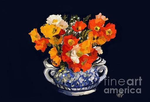 Blue Ceramic Vase by Carrie Joy Byrnes