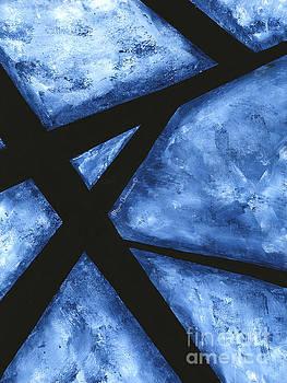 Blue Destiny an Original Contemporary Abstract Painting Original Art by Megan Duncanson by Megan Duncanson
