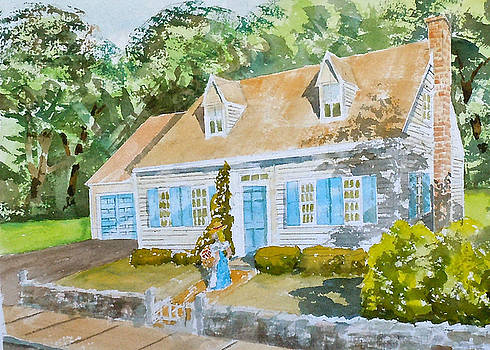 Blue Door Cottage II by Harding Bush