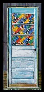 Blue Door with Quilted Window by Jim Harris