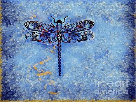 Blue Dragonfly by Deniece Platt