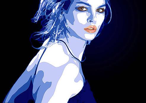 Blue Dress by Tanya Byrd
