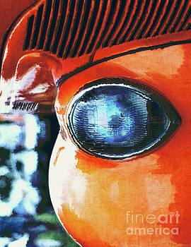 Blue Eye of An Orange Alien by Phil Perkins