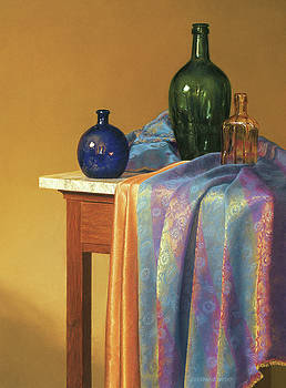 Blue Green and Gold by Barbara Groff