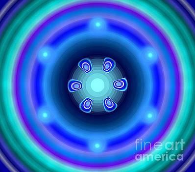 Blue Green Sphere by Kim Sy Ok