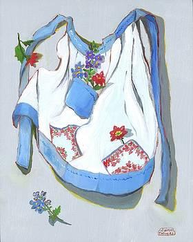 Blue Handkerchief Apron by Susan Thomas