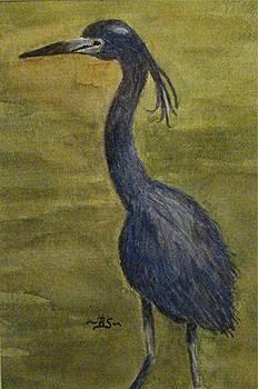 Blue Heron by Bonnie Schallermeir