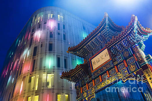 Blue Hour in Chinatown II by Pete Edmunds