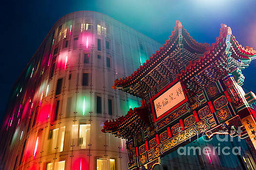 Blue Hour in Chinatown by Pete Edmunds
