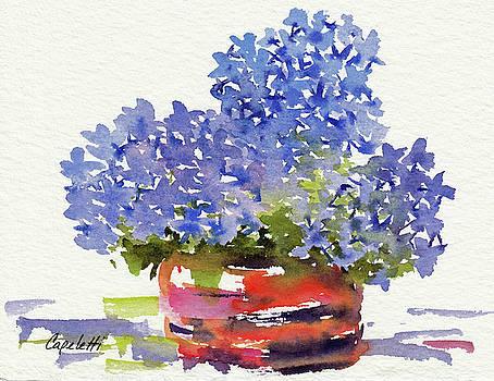 Blue Hydrangea Bowl by Barb Capeletti