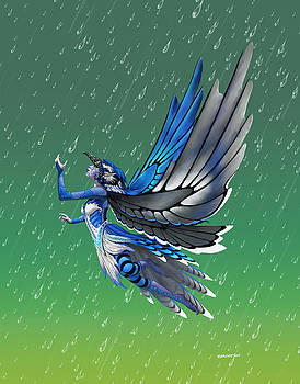 Blue Jay Fairy by Stanley Morrison