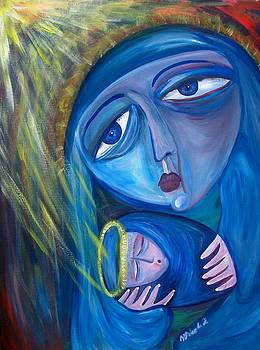Blue Madonna by Michaela Kraemer