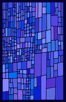 Blue Mondrian by Frank Lee Hawkins