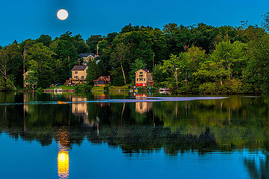 Blue Moon Reflection  by Mark Cranston