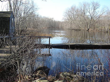 Blue Mornings on the Concord River by Leslie M Browning