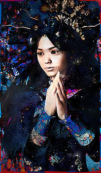 Blue Our Lady of China by Suzanne Silvir