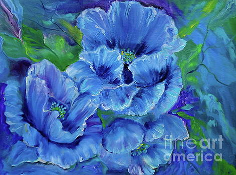 Blue Poppies 11 by Jenny Lee