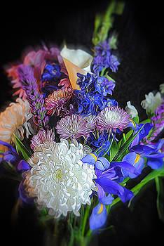 Cindy Boyd - Blue Purple Flower Bouquet