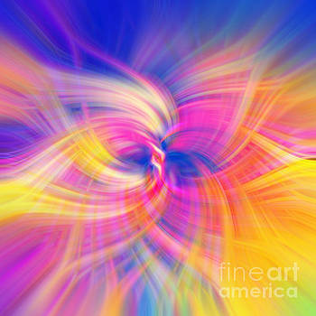 Blue Rainbow of Light Abstract by Phill Petrovic