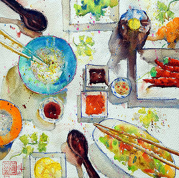 Blue rice bowl by Andre MEHU