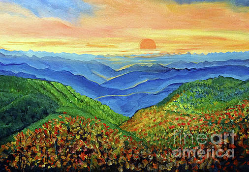 Blue Ridge Mountain Morn by Ecinja Art Works