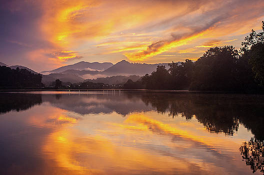 Blue Ridge Mountains NC Heavenly Reflections by Robert Stephens