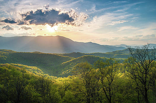 Blue Ridge Parkway NC A Mother's Light by Robert Stephens
