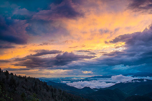 Blue Ridge Parkway NC A Princely Sunset by Robert Stephens