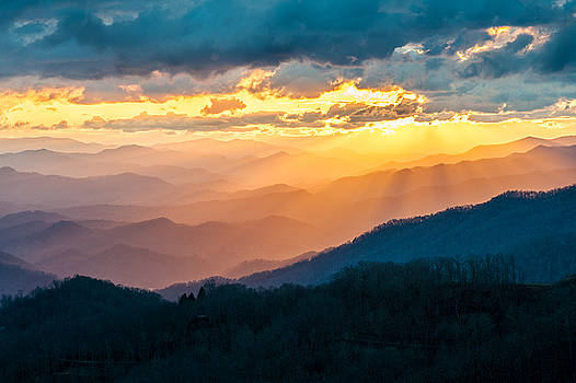 Blue Ridge Parkway NC Golden Glory by Robert Stephens