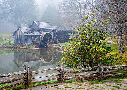 Blue Ridge Parkway VA Mabry Mill Morning by Robert Stephens