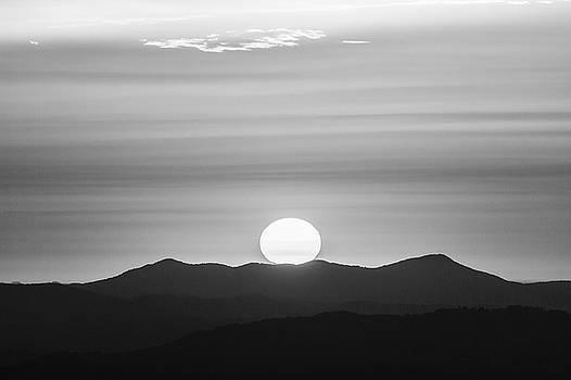 Blue Ridge Sunrise in Black and White by Bill Swindaman