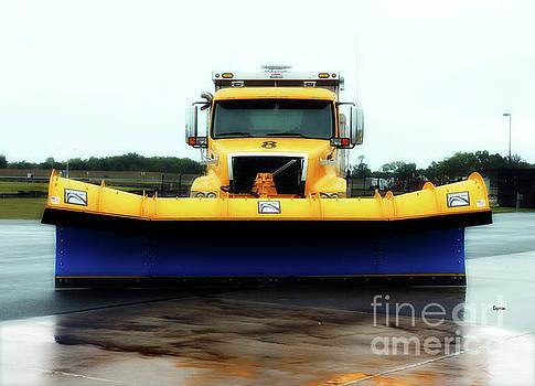 Blue Shovel Yellow Truck  by Steven Digman
