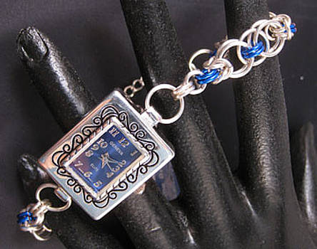 Blue Silver Watch by Dianne Brooks