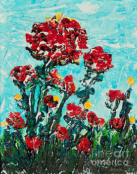 Blue Sky With Flowers by Alys Caviness-Gober