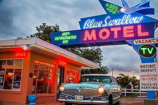 Blue Swallow Motel On Route 66 by Steven Bateson
