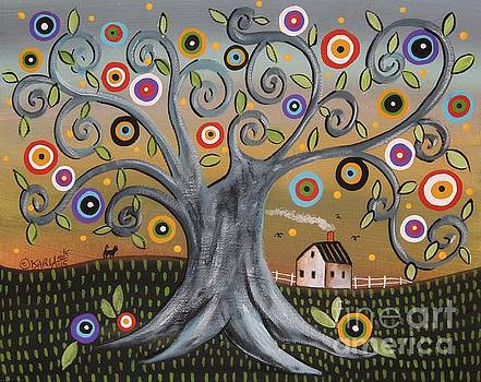 Blue Tree by Karla Gerard