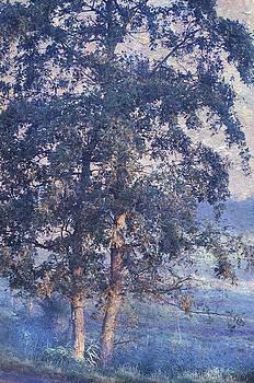 Jenny Rainbow - Blue Trees. Monet Style