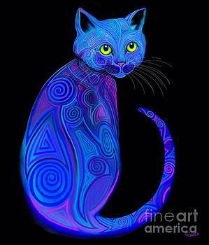 Nick Gustafson - Blue Tribal Cat