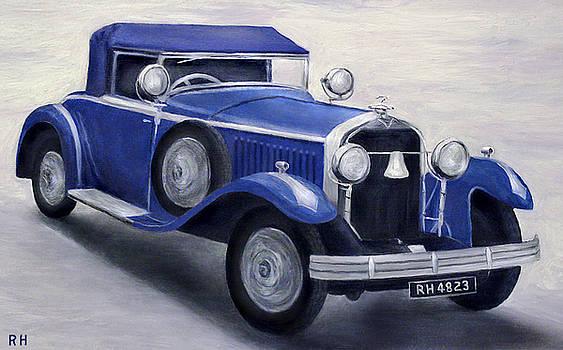 Blue Vintage Car by Ronald Haber