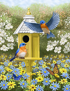 Bluebird Garden Home by Crista Forest