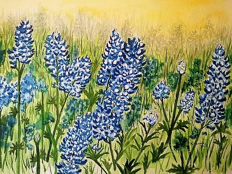 Bluebonnets by B Kathleen Fannin
