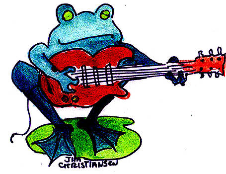 Blues Frog in Color by James  Christiansen