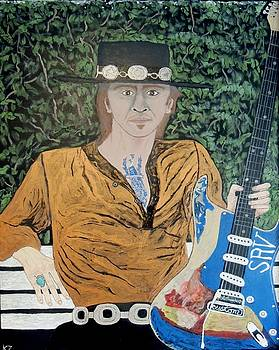 Blues in the park with Stevie Ray Vaughan. by Ken Zabel