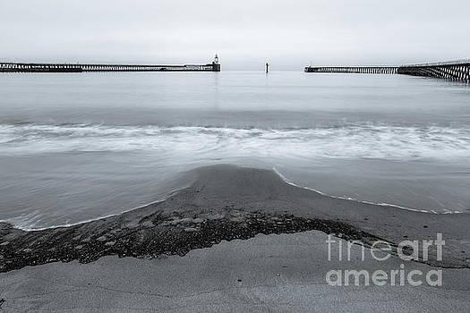 Blyth Beach and Pier #5 by John Cox