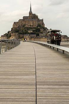 Boardwalk to Mont Saint-Michel by John Daly