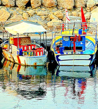 Happy And Colorful Boats In Their Own Company  by Hilde Widerberg