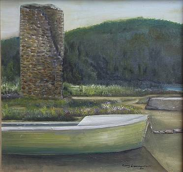 Boat and Tower by Gary Zimmerman