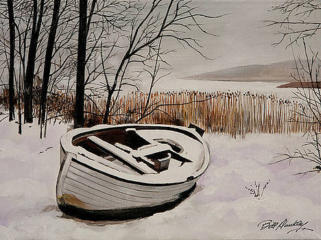 Boat in Snow by Bill Dunkley