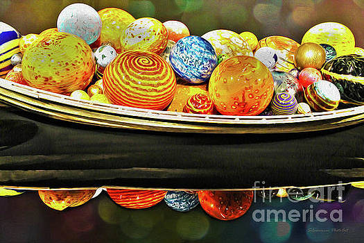 Boat Load of Chihuly with Bokeh by Nina Silver