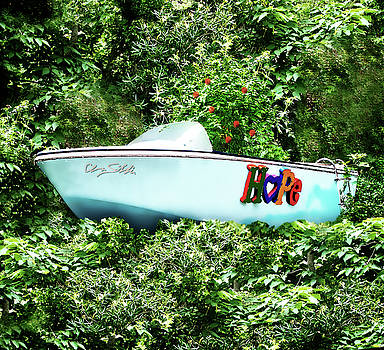 Boat of Blue-Sea of Green by Chas Sinklier